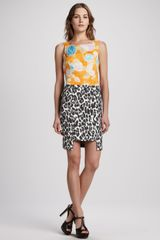 Tracy Reese Mixed Print Combo Dress - Lyst