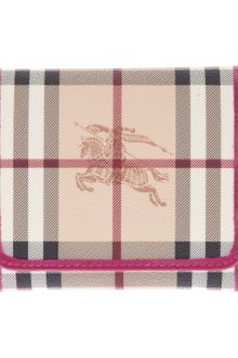 Burberry Checked Purse - Lyst
