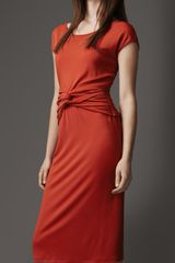 Burberry Twist Detail Dress - Lyst