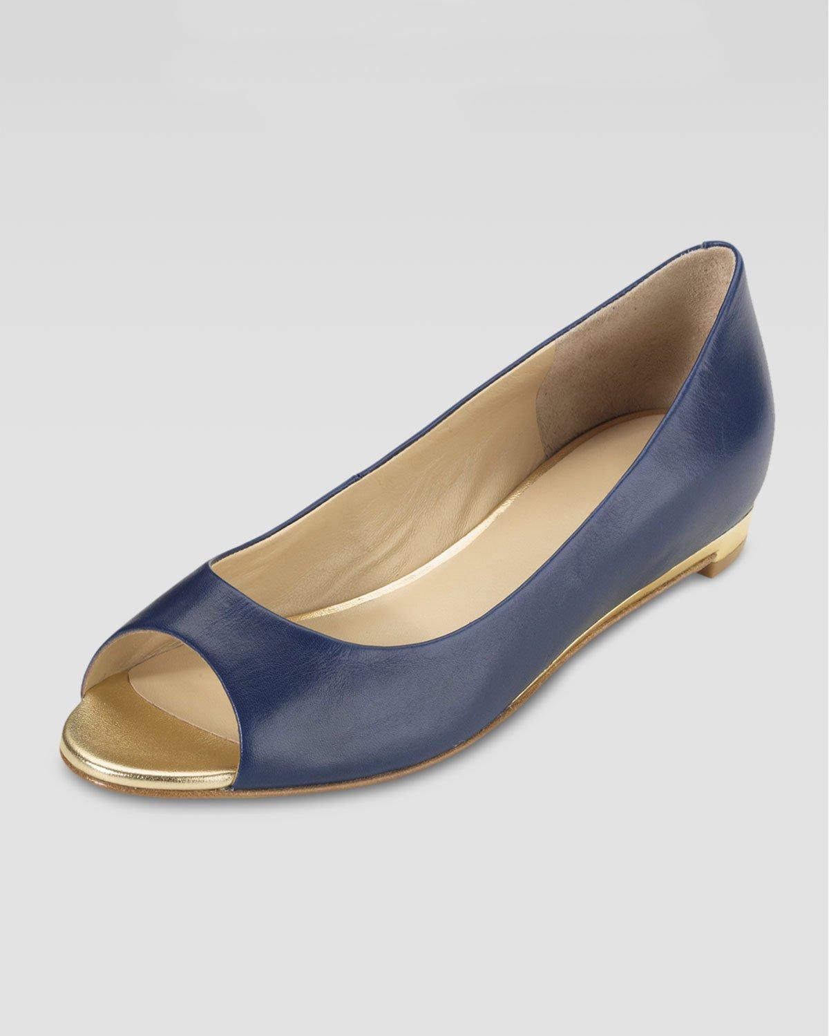 Flat Shoes Navy Blue