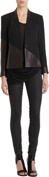 Helmut Lang Warped Suiting Combo Jacket - Lyst