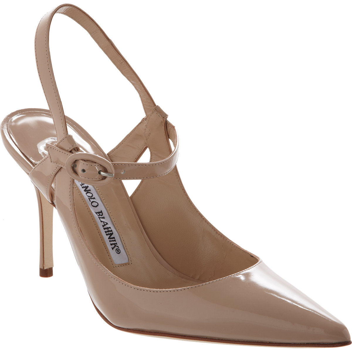 Manolo blahnik koret in beige lyst for Who is manolo blahnik