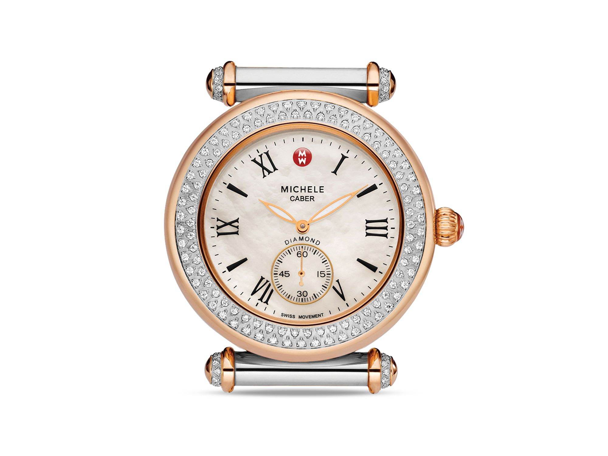7da48120e Rosegold Michele Caber Diamond Two Tone Watch Head 37mm in Metallic ...