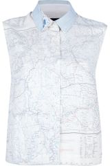 Christopher Raeburn Sleeveless Map Print Shirt - Lyst