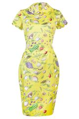 Olympia Le-Tan Veggie Print Dress - Lyst