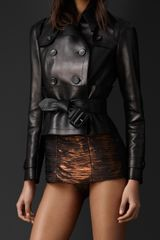Burberry Leather Corset Trench Jacket - Lyst