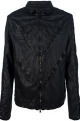Giorgio Brato Panelled Leather Jacket - Lyst