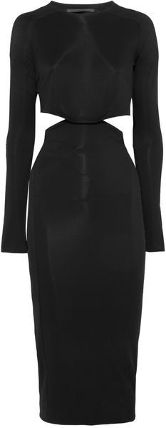 Haider Ackermann Cutout Stretch Jersey Crepe Dress - Lyst