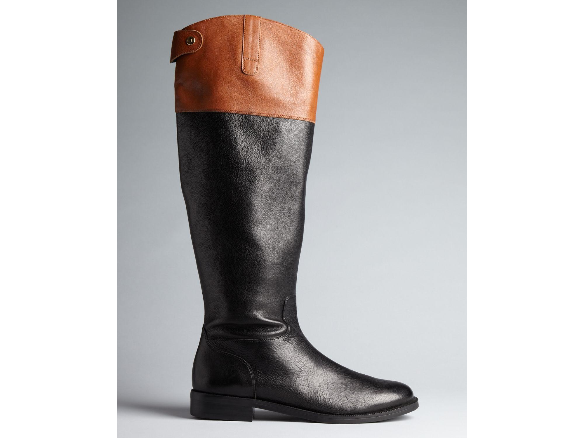 Lauren by ralph lauren Riding Boots Jenessa in Black | Lyst