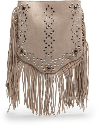 Mango Studs and Fringes Bag - Lyst