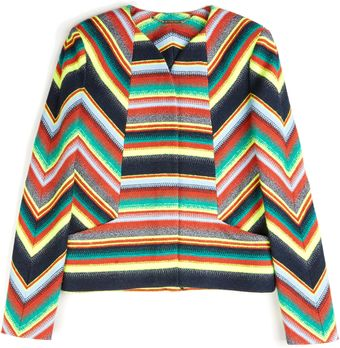 Matthew Williamson Sami Blanket Wool Boxy Jacket - Lyst