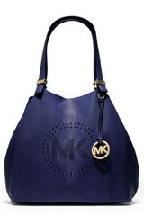 Michael Kors Large Perforatedlogo Grab Bag - Lyst