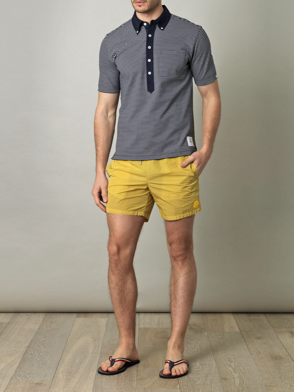 yellow moncler swim shorts