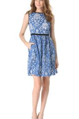 Peter Som Burnout Damask Dress - Lyst