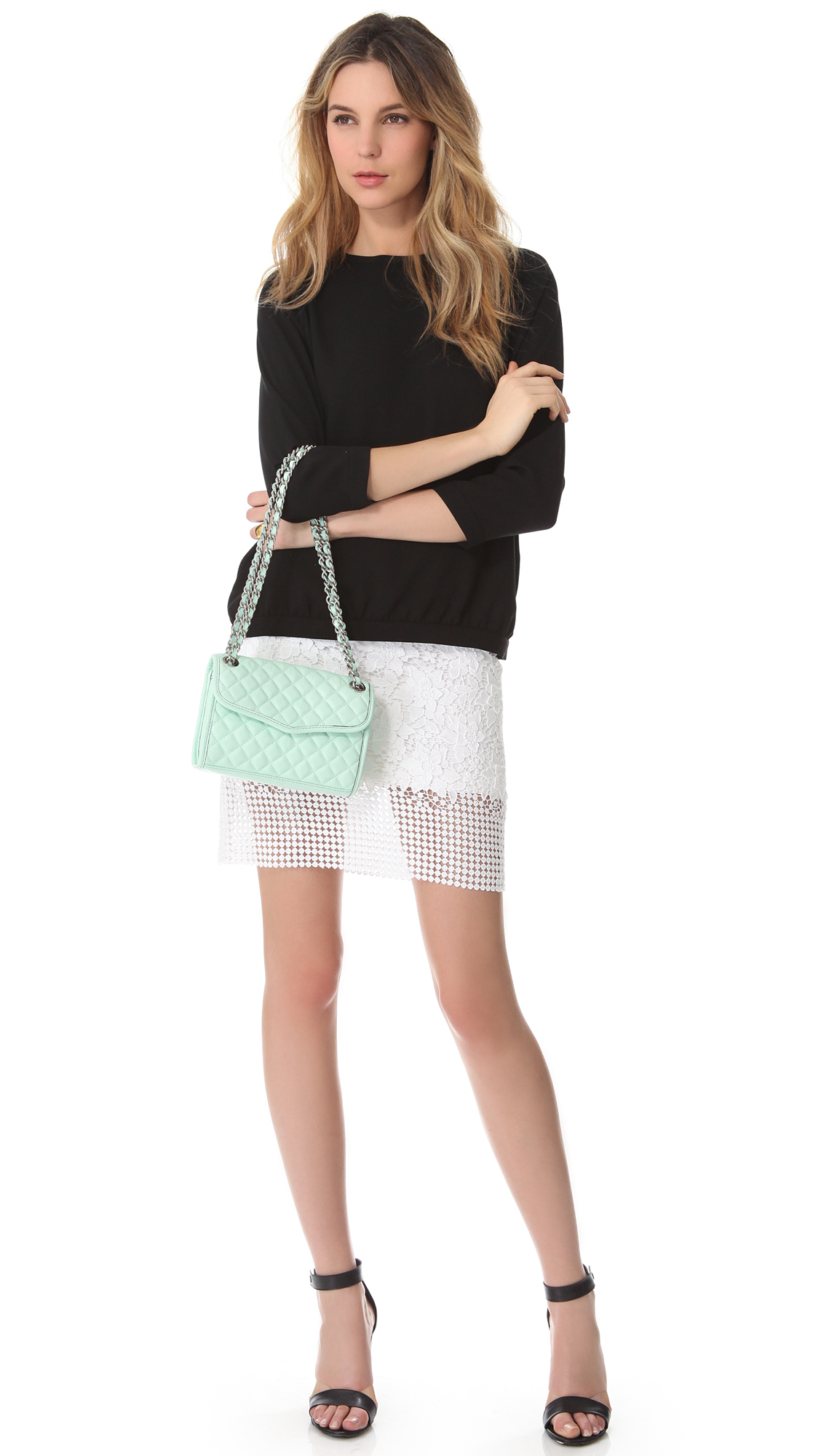 Lyst Rebecca Minkoff Quilt Mini Affair Bag In Green