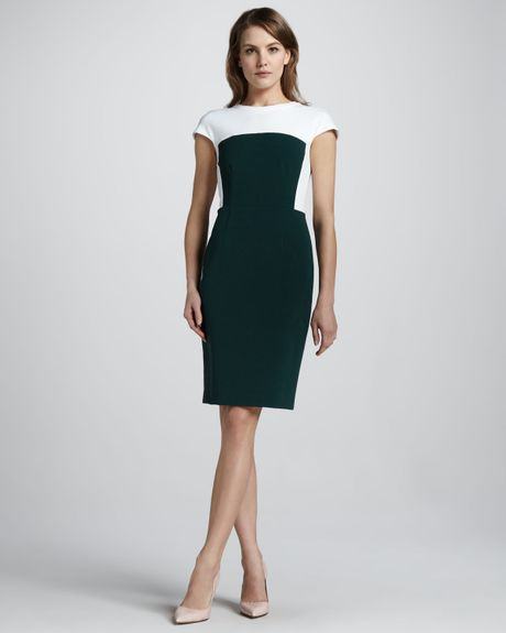 Theory New Recovery Twotone Dress in White (julep.f25) - Lyst