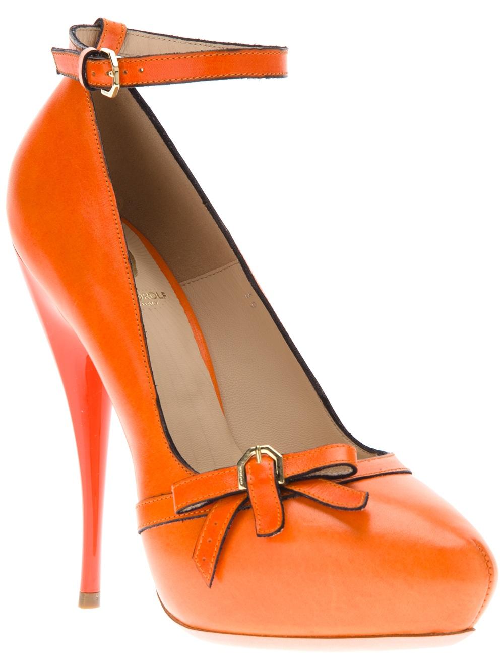 Orange High Heel Shoes Ireland
