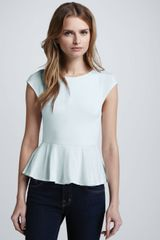 Alice + Olivia Ella Short Sleeve Peplum Top - Lyst
