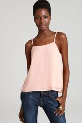 Alice + Olivia Top In Washed Silk - Lyst