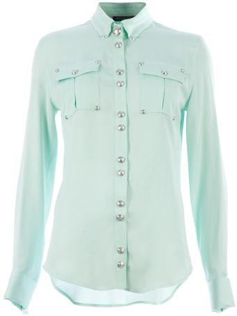 Balmain Military Shirt - Lyst