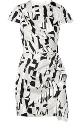 Diane Von Furstenberg Alba Printed Cotton Mini Dress - Lyst