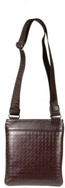 Ferragamo Gamma Branded Leather Handbag - Lyst