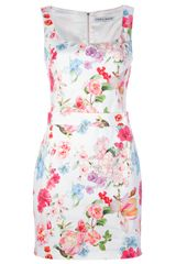 Frankie Morello Floral Dress - Lyst