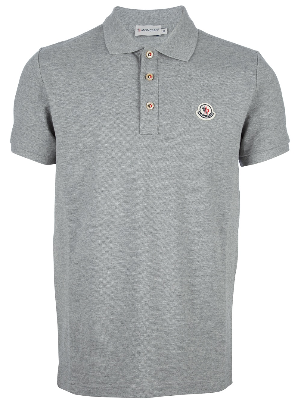 Moncler Classic Polo Shirt In Gray For Men Grey Lyst
