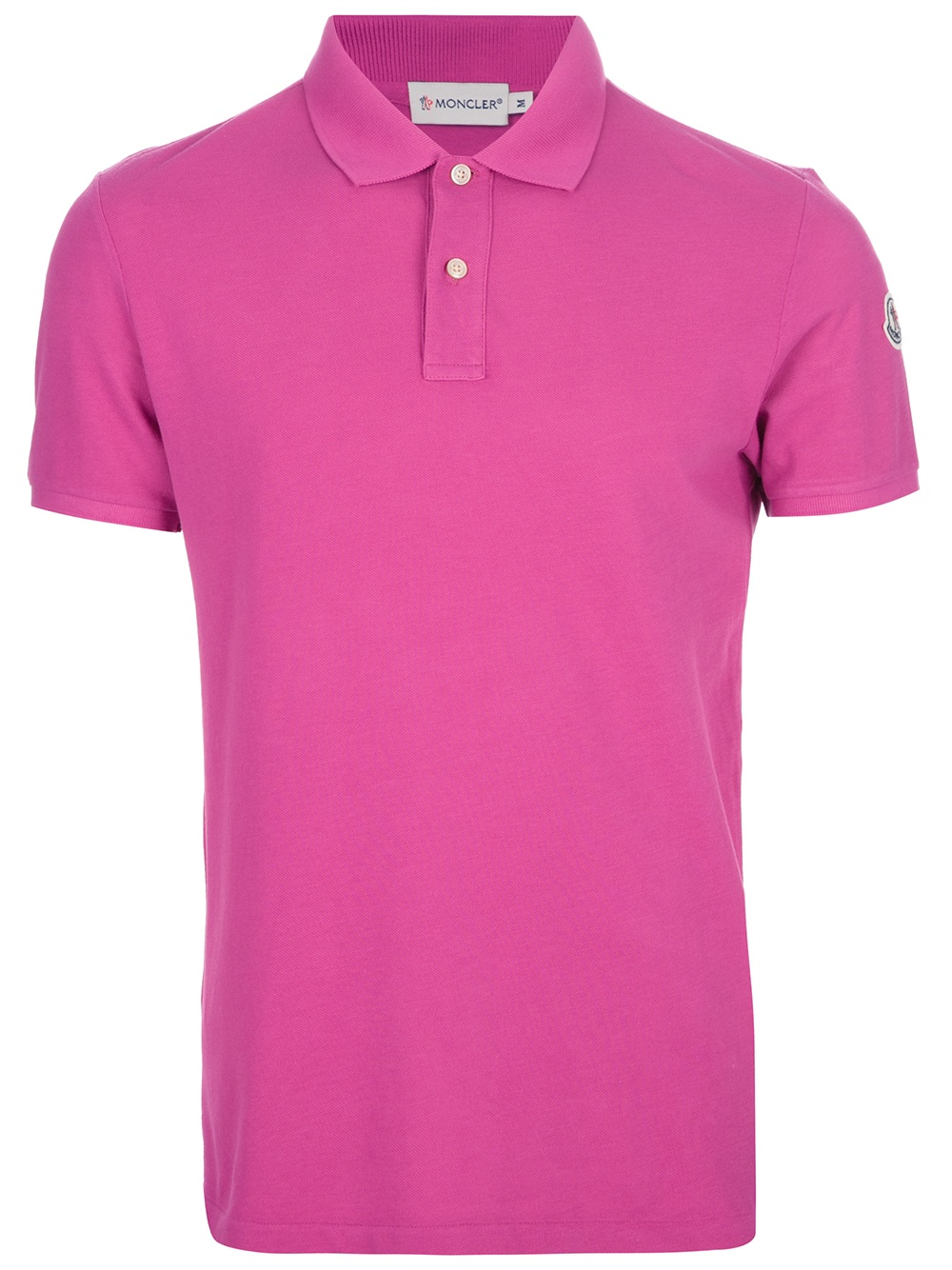 Moncler classic polo shirt in pink for men lyst for Moncler polo shirt sale