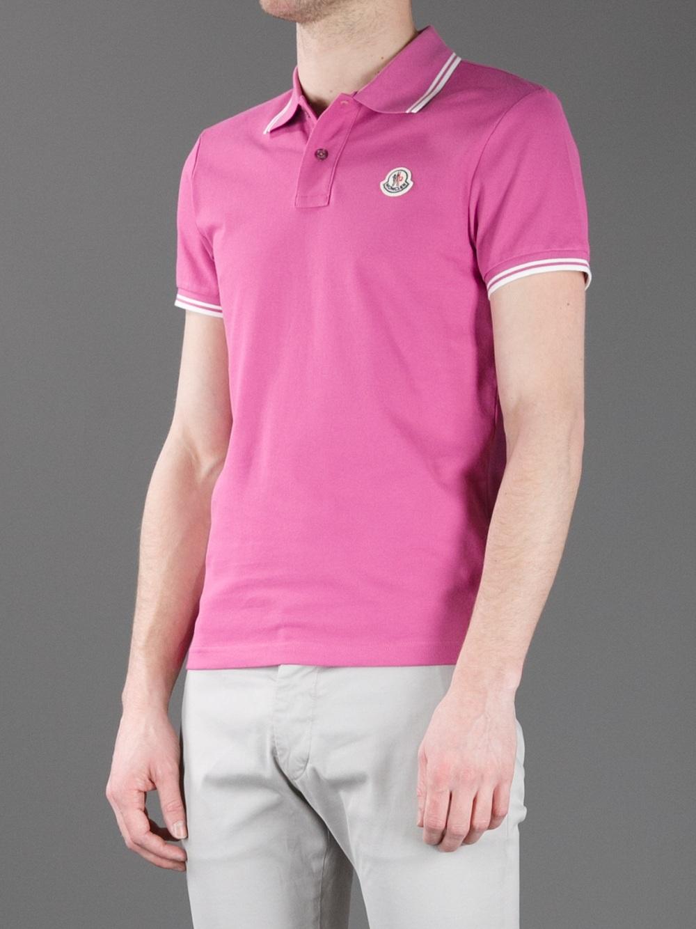 pink moncler shirt