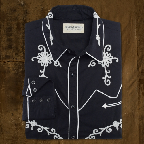 Lyst Ralph Lauren Embroidered Rodeo Shirt In Black For Men