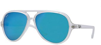 Ray-Ban Clear Aviators with Blue Lenses - Lyst