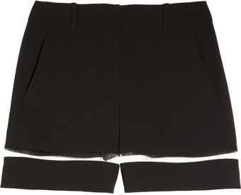 Alexander Wang Crepe and Fishline Shorts - Lyst