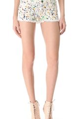 Alice + Olivia Paint Splatter Cut Off Shorts - Lyst