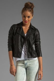Blanknyc Laser Cut Leather Jacket - Lyst