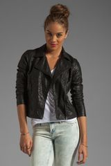 Blanknyc Laser Cut Leather Jacket in Cookie Cutter - Lyst