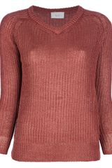 Forte Forte V Neck Ribbed Sweater - Lyst