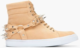 Jeffrey Campbell Light Brown Nubuck Spike Sneakers - Lyst