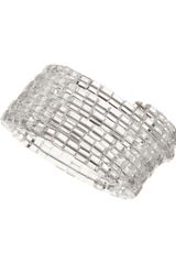 Kenneth Jay Lane Clear Coil Bracelet - Lyst