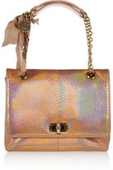 Lanvin The Happy Medium Python Shoulder Bag - Lyst