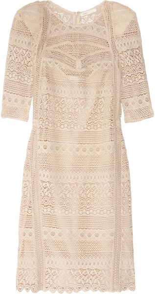 Maje Amant Crocheted Cotton Mini Dress - Lyst