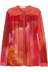 Matthew Williamson Printed Silk Crepe Blouse - Lyst