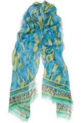 Matthew Williamson Cobraprint Jersey and Cashmereblend Scarf - Lyst