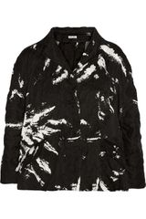 Miu Miu Printed Cotton Jacket - Lyst