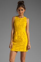 Nanette Lepore Sierra Madre Lace Treasure Dress in Sunshine - Lyst