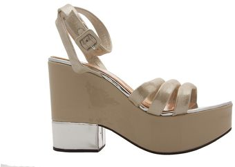 Robert Clergerie Damian Silver Dust Sandals - Lyst