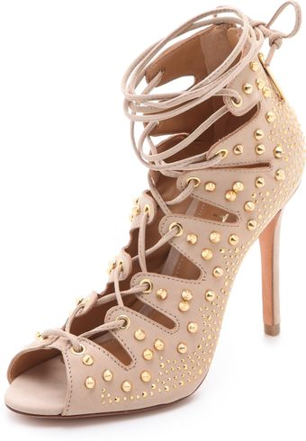 Schutz Arieli Lace Up Booties - Lyst