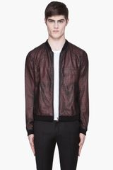 Slvr Perforated Leather Jacket - Lyst