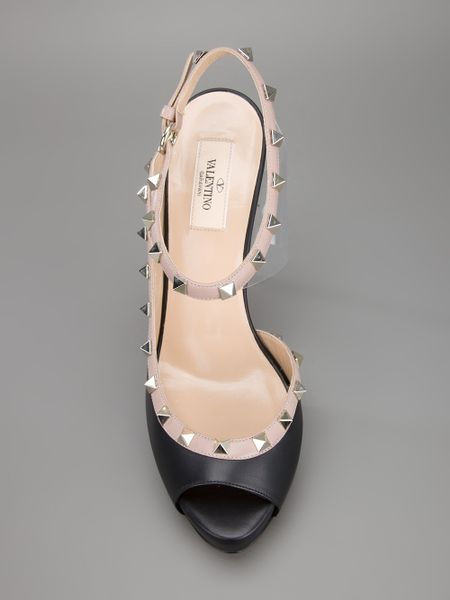 Valentino Studded Sandal In Black Lyst