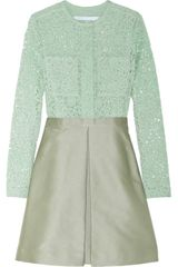 Victoria, Victoria Beckham Cottonlace and Jacquard Dress - Lyst